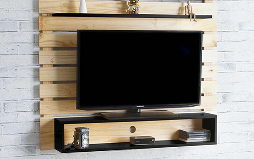 Como fazer um painel de tv com pallets