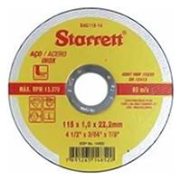 DISCO ABRASIVO INOX 115X1,0X22,23MM STARRETT
