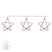Pisca 10 decorativo Led Estrela com pilha Branco